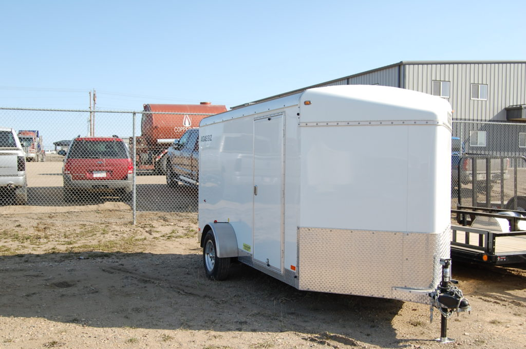 Royal Cargo enclosed trailer 7x14 comes with black steel rims, screwless walls,LED lights with extra height @ 86